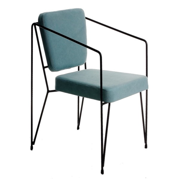 Designer metal chair, quality manufactured in Europe